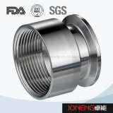 Stainless Steel Sanitary Round Threading/Clamped Pipe Adaptor (JN-FL6008)