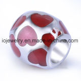 Factory Directly Price Jewelry Red Enamel Bead