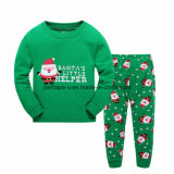 2016 Children′s Pajamas Long-Sleeved Christmas Clothes