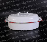 Chicken Dish Oven Baking Plate Enamel Roaster