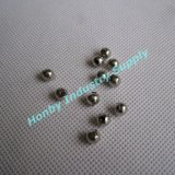 4.5mm Size Silver Colour Briliant Surface Metal Hollow Beads