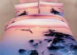 100% Cotton 3D Reactive Printed Bedding Duvet Cover Set with Deep Sleep Fabric