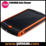 Portable Mobile External Battery Charger with Solar Panel 23000mAh Manual
