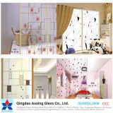 5mm Silkscreen Print Toughened Glass for Building/Construction