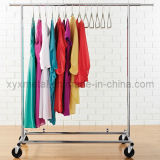 Fashion Stainless Steel Rolling Metal Display Rack for Women Clothes