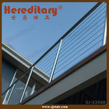 Modern Grill Design Stainless Steel Cable Railing for Top Balcony (SJ-X1048)