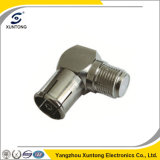 Right Angle F Type Female to PAL Female Connector
