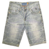 Men Classical Cotton Short Jeans Pants (CFJ047)