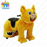 Furry Pig Electric Battery Motorized Animal Kiddie Rides for Shopping Mall