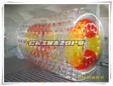 Top Quality PVC/TPU Mixed Color Dots Inflatable Water Walking Barrel