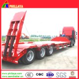 3axles 40-50tons Drop Deck Low Flatbed Lowboy Semi Trailer