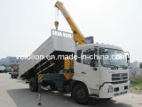 Dongfeng 4X2 Truck Mounted Crane with Self Tipping Box