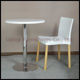 White Plastic Cafe Dining Chair, Wood Legs Plastic Dining Chair (SP-UC022)