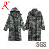 Camouflage PVC Raincoat, Camouflage Poncho (QF-774)