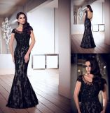 New Party Dress Black Lace Mother Formal Gown Evening Dress E13175