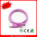 New Design Colorful Nylon Braid to Male Cable (NM-USB--291)