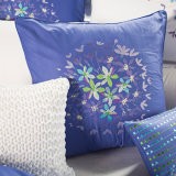 Blue Multiply Use Embroidery Cotton Cushion