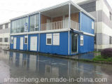 Modern Container House with Wooden Exterior Wall Cladding (shs-fp-accommodation014)