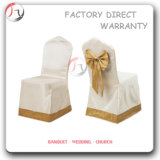 Popular Modern Polyester Apricot Bowknot Chair Covers (YT-72)