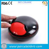 New Product Round Rotation Ceramic Pocket Ashtray