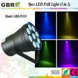 LED Stage Washer/9PCS X 3W LED Stage LED PAR Lighting Equipment