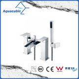 Deck Mount Chromed Dual Handle Bath Shower Tap (AF6010-2A)