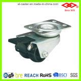 Black Plastic Twin Wheel Caster (L190-30B050X17DS)