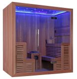 Luxury LED Light Cedar Wood Harvia Heater New Sauna Room (M-6044)