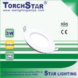 Mini Ultra Thin Aluminum 3W LED Panel Light