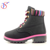 Family Fitted Kids Children Injection Safety Working Work Boots Shoes for Outdoor Job (SVWK-1609-051 BLACK)