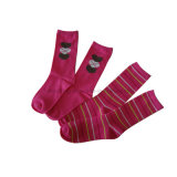 Fancy Plain Cotton Women Socks (WS-52)