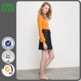 2016 New Arrivals Women′s Pencil Denim Mini Skirt