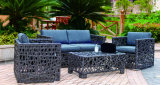 Wicker Sofa Outdoor Rattan Furniture Chair Table Wicker Furniture Rattan Furniture for Outdoor Furniture (Hz-BT125)