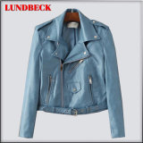 New Fashion PU Jacket for Women Outer Wear