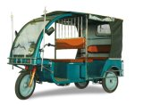 60V 1000W Solar Electric Three Wheeler Passenger Tricycle Auto Rickshaw