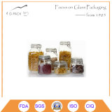 Cube Shape Clear Glass Food Storage Containers