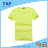 Yellow Color Sublimation Round Neck Modal Tshirt