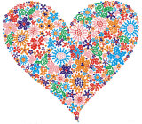 Beautiful Heart Rhinestone Design for Summer Shirts