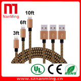 Fashionable Nylon Braided Round USB Cable for iPhone5