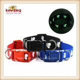 Quality Nylon Material Printing Paws Pet Collars/Luminous Dog Collar Leashes Harness (KC0114)
