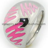 Enamel Ring Stainless Steel Jewelry Supplier