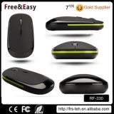 Small Flat 3 Buttons OEM Color Best Wireless Mouse for Travel