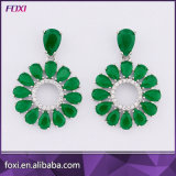 More Color Fashion Gold Plated AAA CZ Copper Chandelier Earring