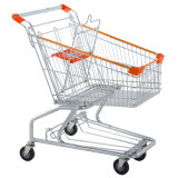 American Style Unfolding Supermarket 4 Wheels Shopping Trolley