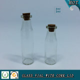 2ml 3ml Wooden Lid Clear Cosmetic Glass Vial