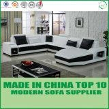 White U Shaped Modern Sofa