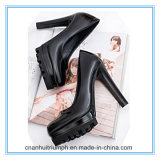 New Fashion All-Match Shallow Mouth PU Leather Shoes for Ladies