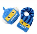 Baby Warm Knitted Hat and Scarf Set