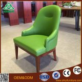 High Quality Luxury Genuine Leather Solid Wood Restaurant Chair