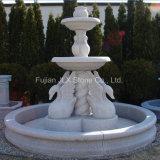 Granite Stone Swan Sculpture Water Fountain